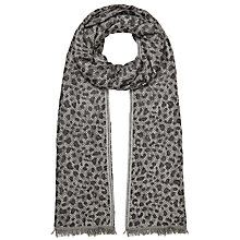 Buy John Lewis Spotty Animal Print Jacquard Scarf, Grey Online at johnlewis.com