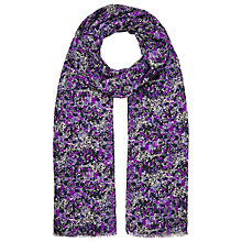 Buy John Lewis Abstract Speckle Scarf, Purple/Multi Online at johnlewis.com