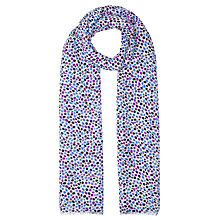 Buy John Lewis Scattered Spot Scarf, Blue/Multi Online at johnlewis.com