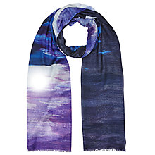 Buy John Lewis Costal Stripe Scarf, Navy/Multi Online at johnlewis.com