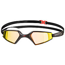 Buy Speedo Aquapulse Max Mirror 2 IQfit Swimming Goggle, Black/Orange Online at johnlewis.com