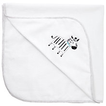 Buy John Lewis Baby Zebra Cuddle Robe, White Online at johnlewis.com
