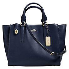 Buy Coach Crosby Leather Carryall Bag, Navy Online at johnlewis.com