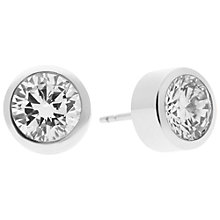Buy Michael Kors Park Ave Clear Stud Earrings, Silver Online at johnlewis.com