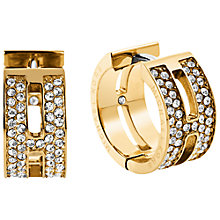 Buy Michael Kors Heritage Huggie Hoop Earrings Online at johnlewis.com