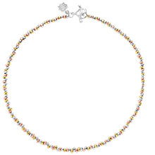 Buy Dower & Hall Sterling Silver 18ct Vermeil Nomad Necklace, Multi Online at johnlewis.com