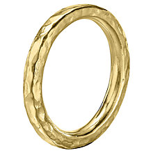Buy Dower & Hall 18ct Vermeil Hammered Nomad Band, Gold Online at johnlewis.com