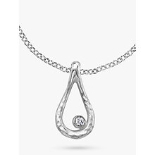Buy Dower & Hall Open Teardrop White Topaz Dewdrop Pendant Online at johnlewis.com
