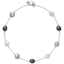 Buy Dower & Hall Baroque Pearl Chain Necklace Online at johnlewis.com