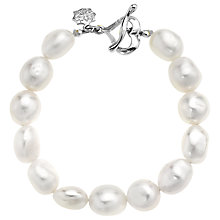 Buy Dower & Hall Sterling Silver White Baroque Pearl Bracelet, Silver Online at johnlewis.com