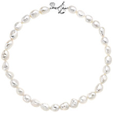 Buy Dower & Hall Pearlicious White Baroque Pearl Necklace, Silver Online at johnlewis.com