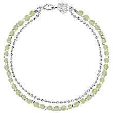 Buy Dower & Hall Sterling Silver Beaded Friendship Bracelet Online at johnlewis.com