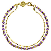 Buy Dower & Hall 18ct Gold Vermeil Beaded Friendship Bracelet Online at johnlewis.com
