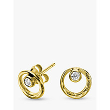 Buy Dower & Hall 18ct Vermeil Circle Stud Earrings Online at johnlewis.com
