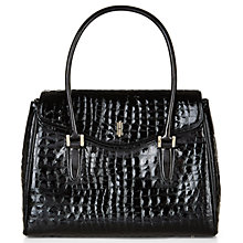 Buy Hobbs Harrogate Work Bag, Black Croc Online at johnlewis.com