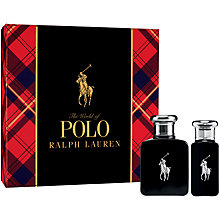 Buy Ralph Lauren Polo Black 75ml Mens Eau de Toilette Gift Set Online at johnlewis.com