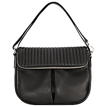 Buy Whistles Leather Duffy Biker Zip Satchel, Black Online at johnlewis.com