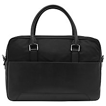Buy Reiss Robin Contrast Briefcase, Black Online at johnlewis.com