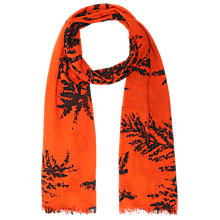 Buy Whistles Fern Print Scarf, Red Online at johnlewis.com