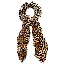 Buy Oasis Animal Print Scarf, Brown Online at johnlewis.com