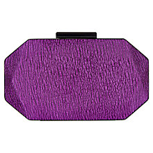 Buy Precis Petite Box Clutch Bag, Berry Online at johnlewis.com