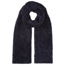 Buy Whistles Teddie Faux Fur Scarf, Navy Online at johnlewis.com