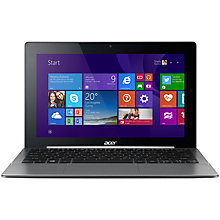 "Buy Acer Aspire Switch 11 SW5-171, Intel Core M, 4GB RAM, 128GB, 11.6"" Full HD Touch Screen, Metallic Online at johnlewis.com"