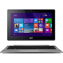 "Buy Acer Aspire Switch 11 V SW5-173 Convertible Laptop, Intel Core M, 4GB RAM, 128GB, 11.6"" Full HD Touch Screen, Metallic Online at johnlewis.com"