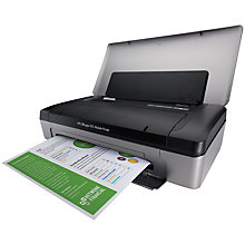 Buy HP Officejet 100 Mobile Wireless Bluetooth Portable Printer Online at johnlewis.com