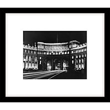 Buy Getty Images Floodlit Admiralty Arch Photograph, Black Frame, 49 x 57cm Online at johnlewis.com