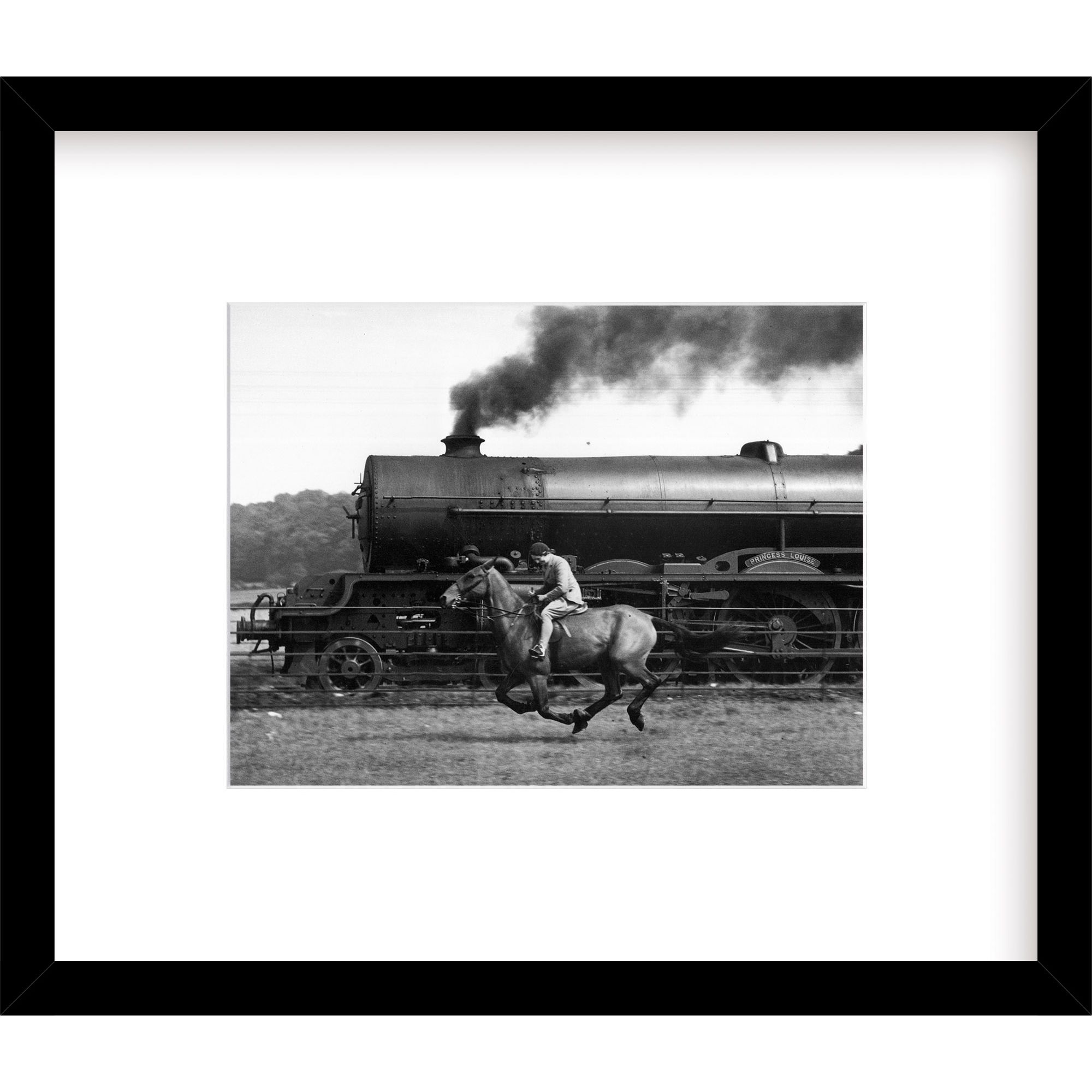 Getty Images Gallery Getty Images Gallery - Steamy Steed Framed Print, 49 x 57cm