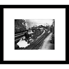 Buy Getty Images Train and Railway Photograph, Black Frame, 49 x 57cm Online at johnlewis.com