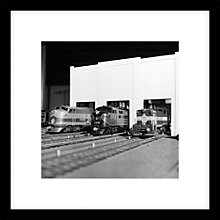 Buy Getty Images Gallery - Model Diesel Trains Framed Print, 49 x 49cm Online at johnlewis.com