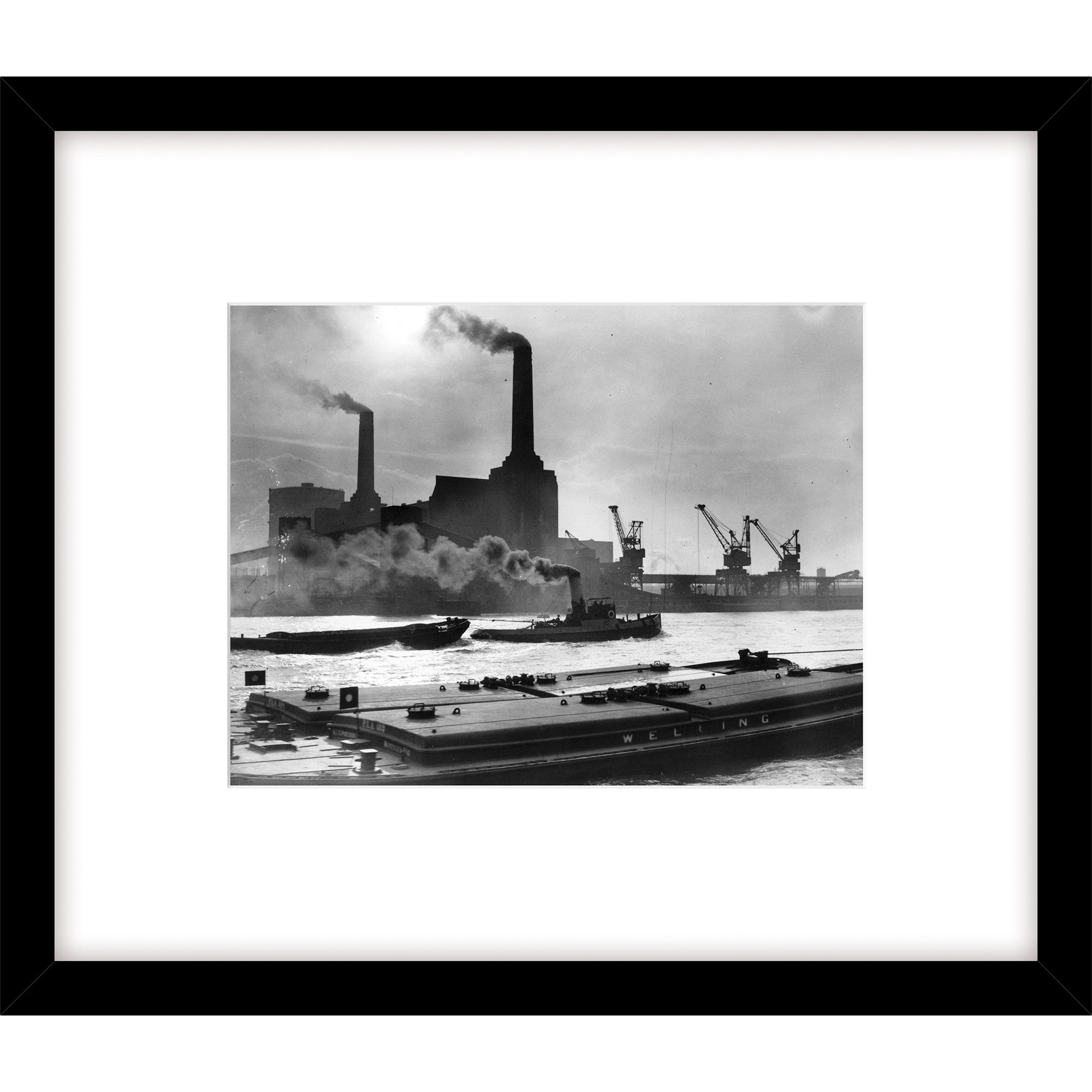 Getty Images Gallery Getty Images Power Station Photograph, Black Frame, 49 x 57cm