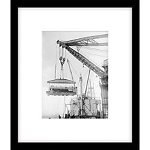 Buy Getty Images Loading Locomotive Photograph, Black Frame, 57 x 49cm Online at johnlewis.com