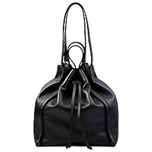 Buy Whistles Leather Sidney Drawstring Bag Online at johnlewis.com
