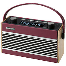 Buy ROBERTS Rambler DAB/DAB+/FM Digital Radio, Dark Red Online at johnlewis.com