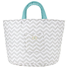 Buy John Lewis Baby Chevron Print Storage Bag, Grey Online at johnlewis.com