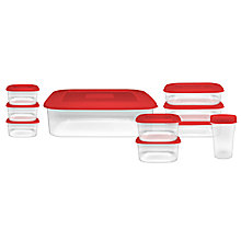 Buy John Lewis 10 Piece Food Plastic Container Set, Assorted Colours Online at johnlewis.com