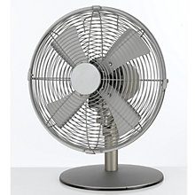 "Buy NSA'UK DF-1214 12"" Desk Fan, Soft Matt Nickel Online at johnlewis.com"