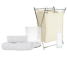 Buy John Lewis The Basics Off to University Bathroom Basics Set Online at johnlewis.com