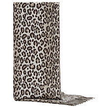 Buy Reiss Cashmink Animal Print Scarf, Natural Online at johnlewis.com