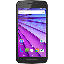 "Buy Motorola Moto G (3rd generation) Smartphone, Android, 5"", 4G LTE, SIM Free, 8GB Online at johnlewis.com"