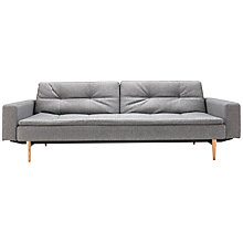 Buy Innovation Dublexo Sofa Bed with Arms, Light Grey Online at johnlewis.com
