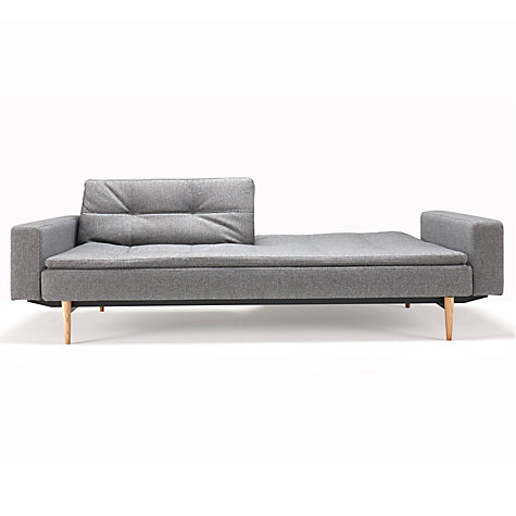 Buy innovation dublexo sofa bed with arms light grey for Sofa bed qatar living