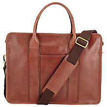 Buy John Lewis Holmes Leather Briefcase, Brown Online at johnlewis.com