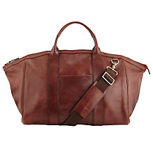 Buy John Lewis Holmes Leather Medium Holdall, Brown Online at johnlewis.com