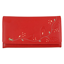 Buy Radley On The Trail Large Leather Flap Over Matinée Purse, Burnt Red Online at johnlewis.com