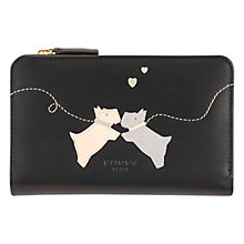 Buy Radley Puppy Love Leather Purse, Black Online at johnlewis.com