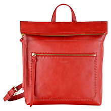 Buy Radley Maltby Street Leather Backpack, Red Online at johnlewis.com